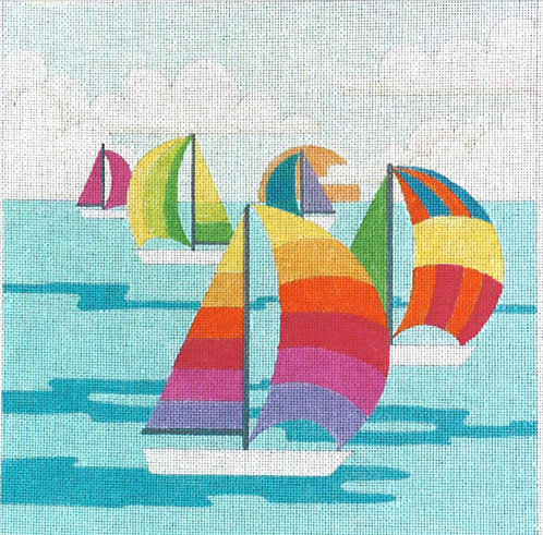Colorful Sailboats - 13 mesh