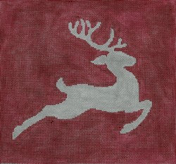 Kristine Kingston P107 Reindeer on Red