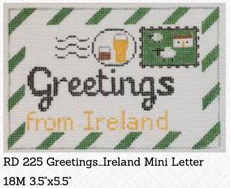 Rachel Donley Small Letter-  Greetings from Ireland