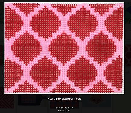 INSPCC-13 Red & Pink Quatrefoil Insert