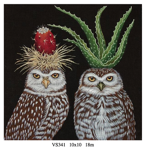 Melissa Shirley VS341 Aloe & Prickly Pear Owl