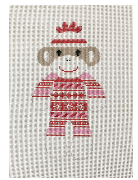 J Malahy 3.5x6 18 mesh Nordic PJs Sock Monkey