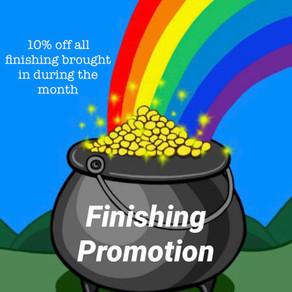 Finishing Promotion