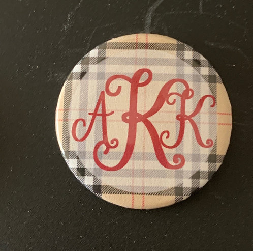 Burberry Plaid with Red Letters
