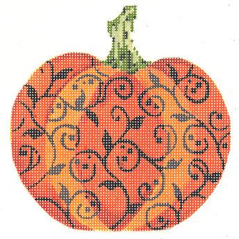Kelly Clark KCN1564 Halloween Scroll Pumpkin