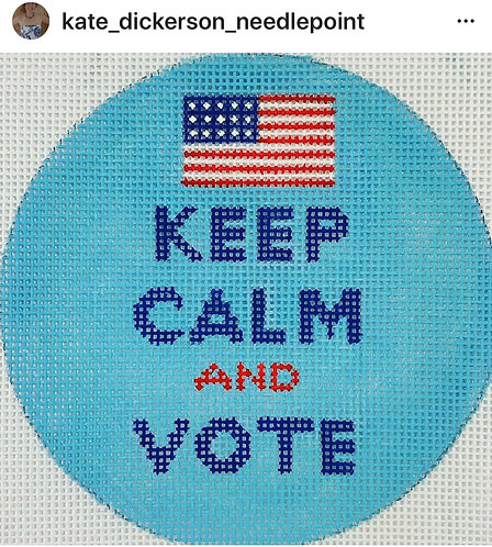 Kate Dickerson Keep Calm and Vote