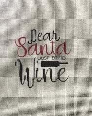 PP1040 Santa Please Bring Wine 13 mesh