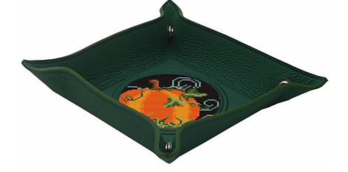 """Lee GREEN Leather Snap Tray for 3"""" Insert"""