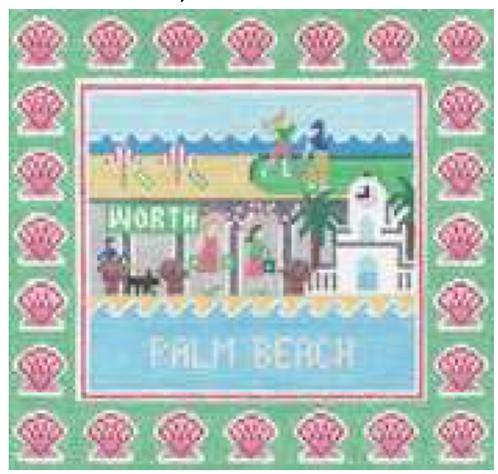 Doolittle Destination Squares 13 mesh Palm Beach