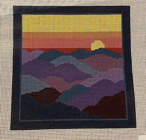 JP Needlepoint V081 Sunset in the Mountains