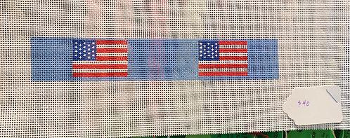 Needlepoint by Laura USA Flag Key Fob