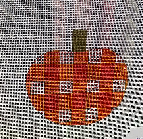 Patty Paints H38 Small Plaid Pumpkin 18 mesh