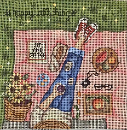 Gayla Elliott  GEP313 Happy Stitching
