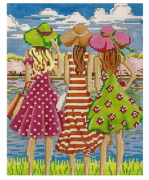 AP4149 Three Girls in Spring