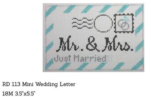 Rachel Donley RD113 Mini Wedding Letter 18 mesh