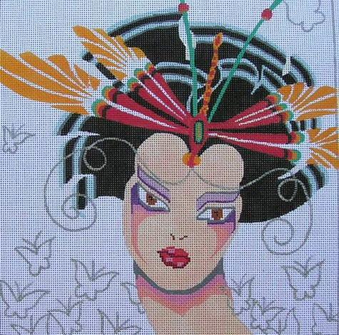 Julia's Needleworks GK410 Dragon Fly Geisha
