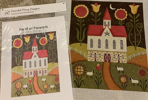 Mary Charles MCBN04 Field of Flowers with Stitch Guide