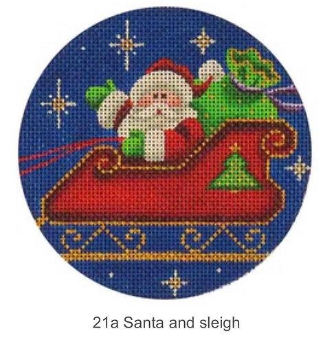 Rebecca Wood 21a Santa and Sleigh