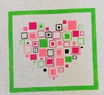 PP1041 Heart Squares 18 mesh