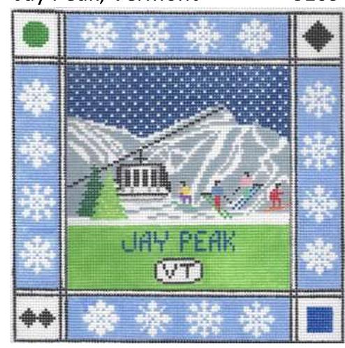 Doolittle Ski Squares 13 mesh Jay Peak