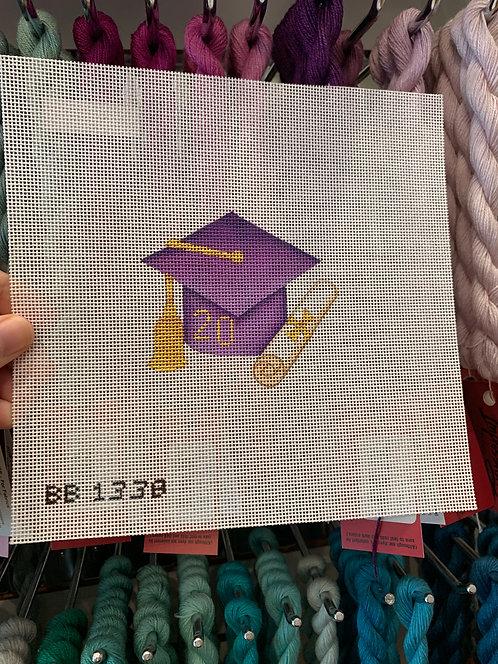 BB1338 Purple Graduation Cap