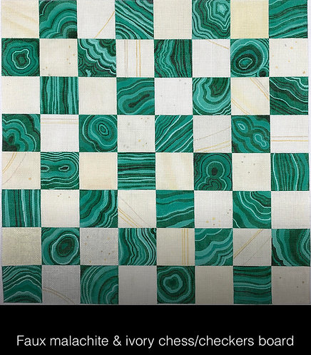 Kate Dickerson CHB-01 Malachite Checkers Board
