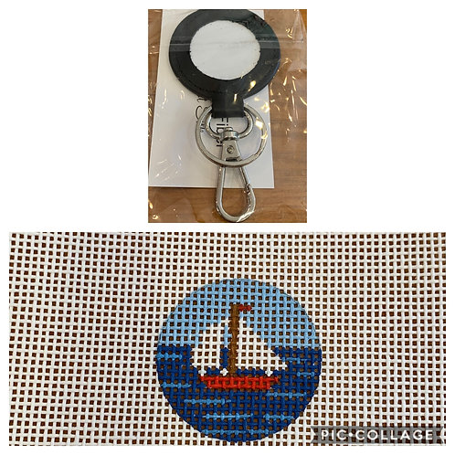 Planet Earth Key Fob and sailboat insert