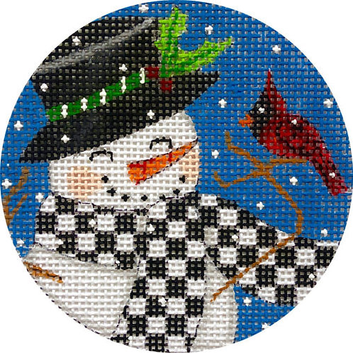 Snowman and Cardinal Alice Peterson X416