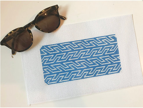 Pewter & Pine Blue and White Geometric Sunglass Case