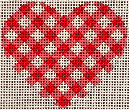 AT HE855R Red Gingham Heart