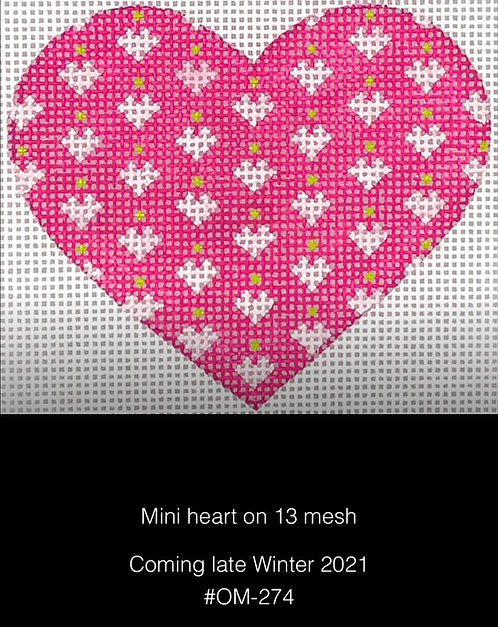 Kate Dickerson OM-274 Mini Hearts on Mini Heart 13 mesh