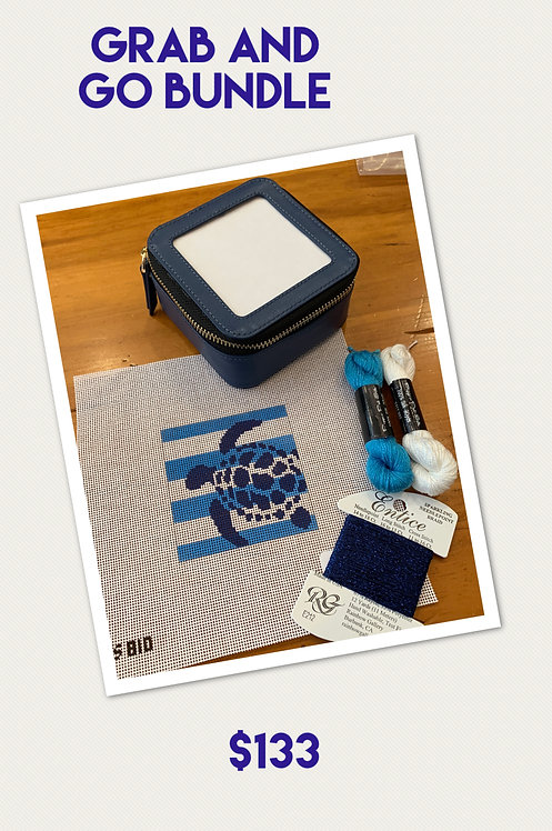 Grab and Go Bundle Two Sisters Turtle, Jewelry Case and threads