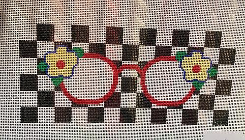 J Malahy Eyeglass Case Checkboard