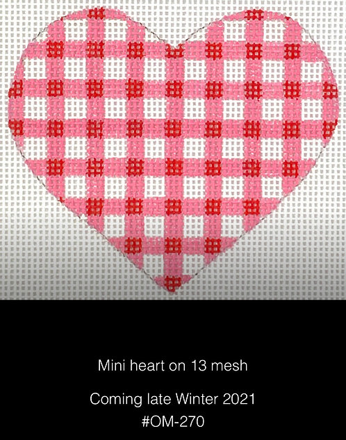 Kate Dickerson OM-270 Gingham Red & Pink Mini Heart 13 mesh
