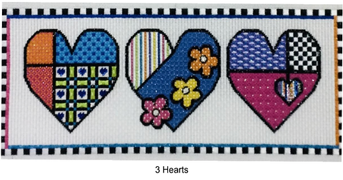 Sew Much Fun 3 Hearts 13 mesh with Stitch Guide