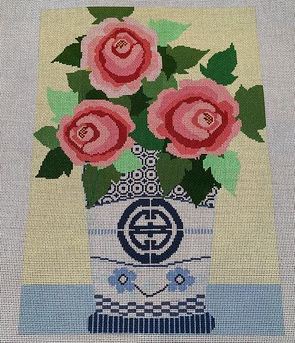 Needledeeva Vase with Roses
