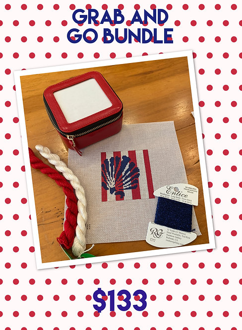 Grab and Go Bundle Two Sisters Scallop, Jewelry Case and threads