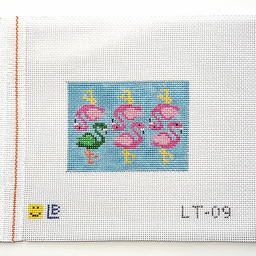 Lauren Bloch Flamboyance of Flamingos Luggage/Wallet Insert