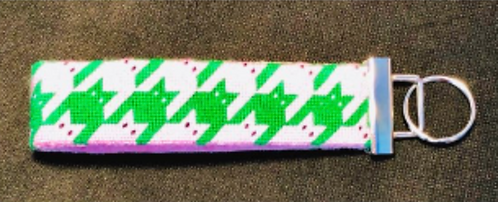Eye Candy C110 Pink and Green Keychain