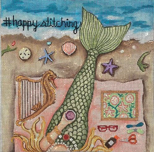 Gayla Elliott  GEP314 Mermaid Happy Stitching