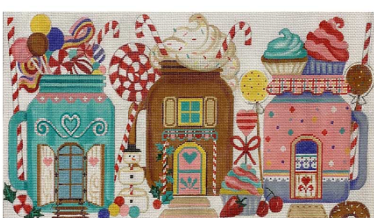 AP4256 Mason Jar Christmas Houses 18 mesh