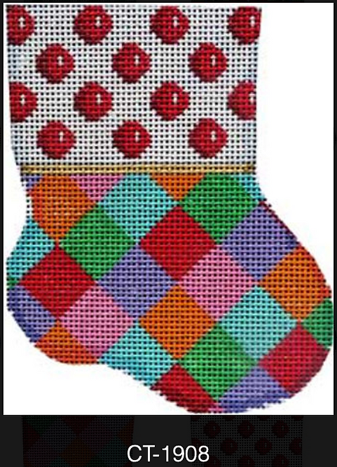 AT CT-1908 Red Coin/Harlequin Mini sock