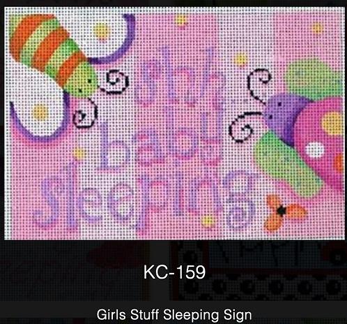 AT KC-159 Girls Stuff Sleeping Sign
