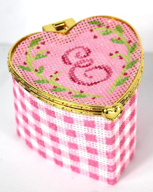 BXPH -01 Petite Heart Box w/ Monogram Letter