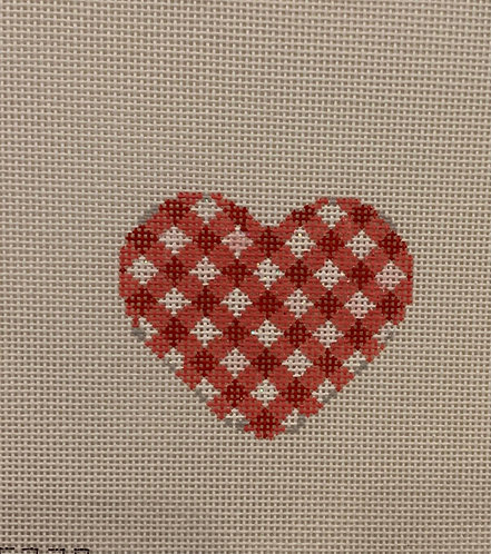 AT HE677R Red Checked Mini Heart