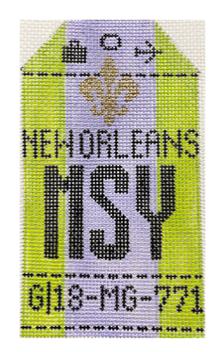 HedgeHog MSY New Orleans Travel Tag