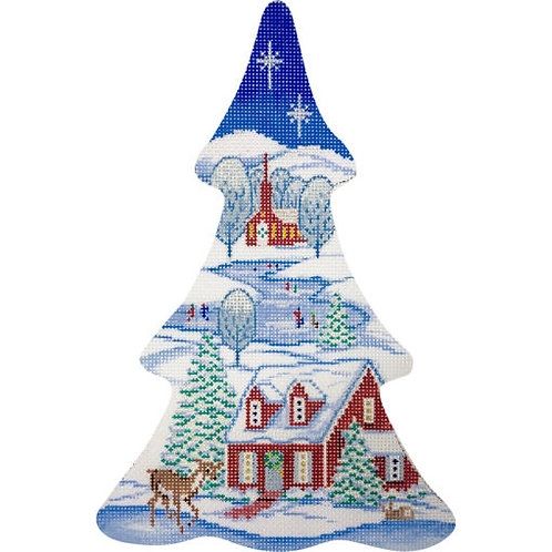 AP 4156  Winter Village Tree
