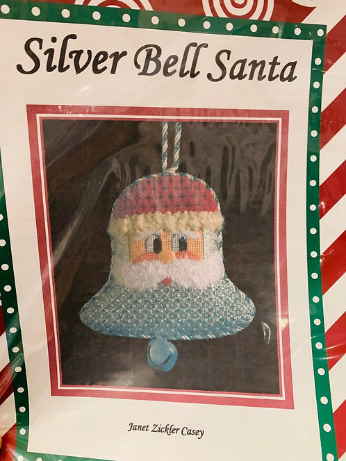 Silver Bell Santa with Stitch Guide