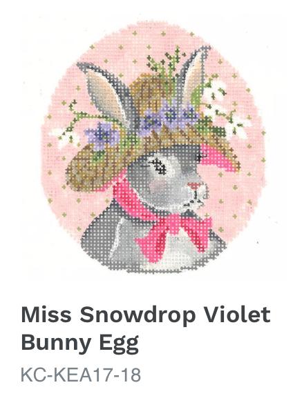 Kelly Clark Ms. Snowdrop Violet Bunny Egg