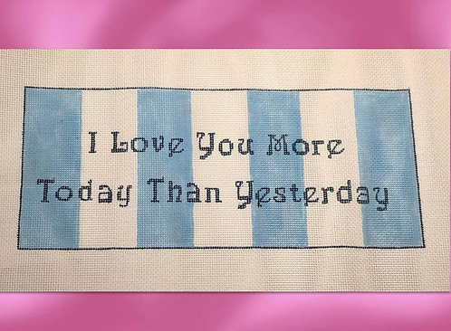 Judy Tasch Needlepoint Love You More...